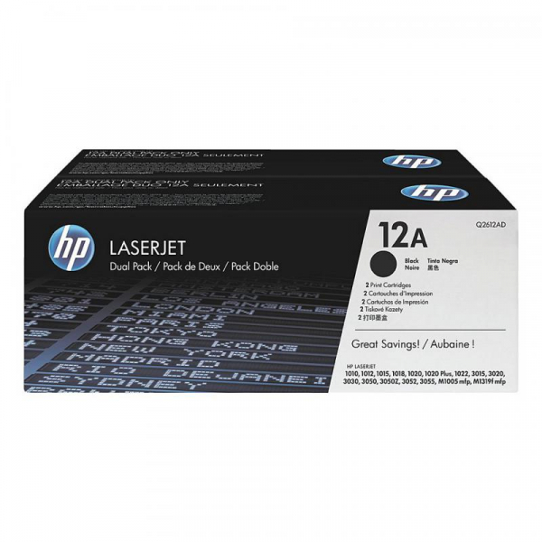 HP Q2612AD BLACK TONER CARTRIDGE 0