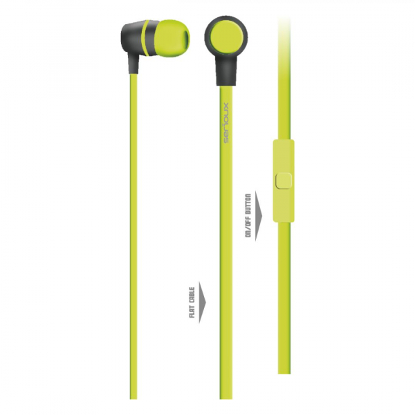 IN-EAR HEADPHONES WITH MIC SERIOUX LIME 0