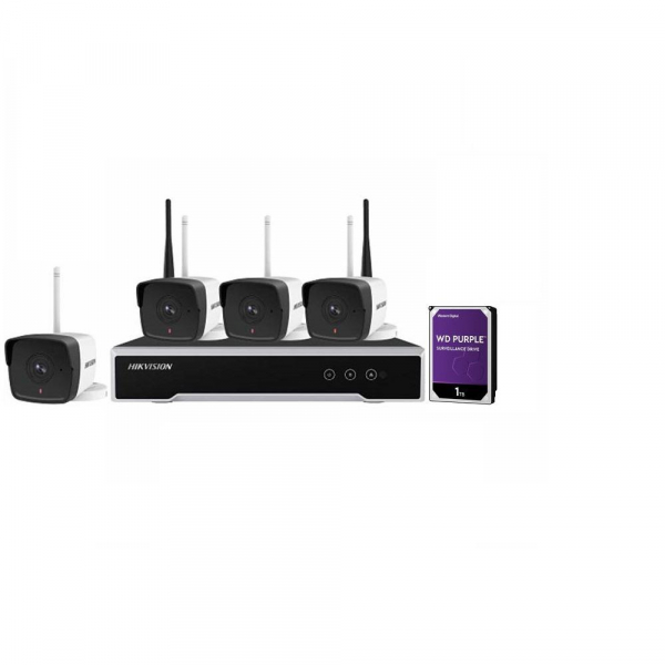 KIT 4CAMERE BULLET+1NVR+1HDD WIFI 2MP 0