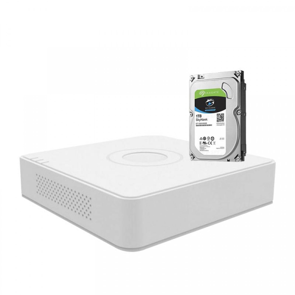 KIT DVR 4 CANALE + HDD 1TB SEAGATE 0