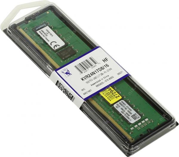 KS DDR4 16GB 2400 KVR24N17D8/16 0
