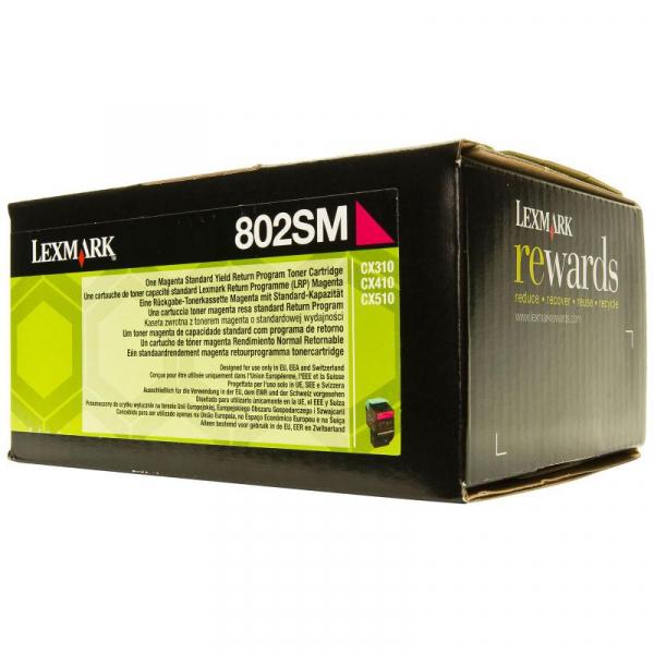 LEXMARK 80C2SM0 MAGENTA TONER 0