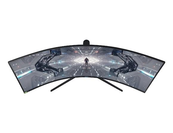 Monitor Samsung LC49G95TSSUXEN, 49 inch, Odyssey G9 QLED  Dual-QHD, Curbat, VA, 5120 x 1440, 32:9, 1 (GTG) ms, 1000 cd/m2, 2500:1, 1000R,  Black Equalizer, sRGB 125%,  178°(H)/178°(V),  240Hz,  2*Disp 2