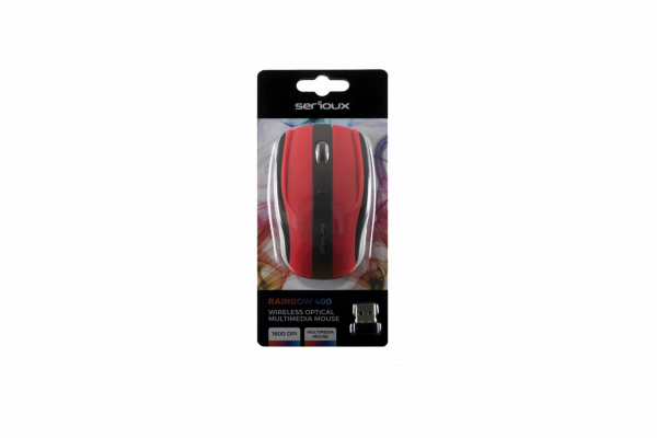 MOUSE SERIOUX RAINBOW400 WR RED USB [1]