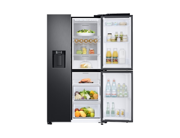 Side by Side Samsung RS68N8671B1, Capacitate 604L, Capacitate neta congelator: 210l, Capacitate neta frigider: 394l, Inaltime 1747mm, Latime: 960mm, Adancime 716mm, Functii racire: Twin Cooling Plus/N 5