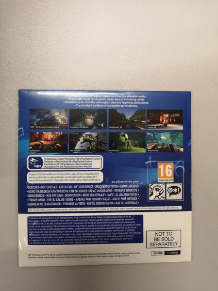 SONY PS VR + DEMO DISC - 8 DEMO GAMES 1