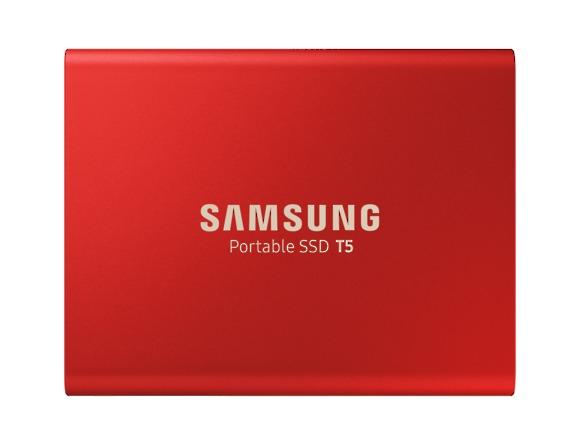 SSD Samsung MU-PA500R/EU, Portabil T5, 500Gb, USB 3.1, 540Mb/s, Red 0