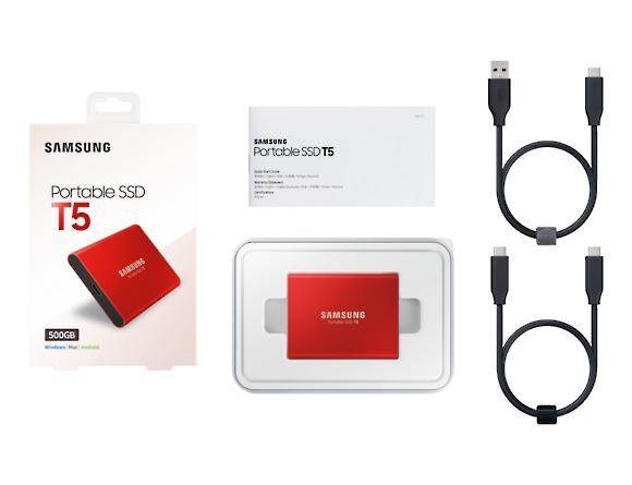 SSD Samsung MU-PA500R/EU, Portabil T5, 500Gb, USB 3.1, 540Mb/s, Red 2