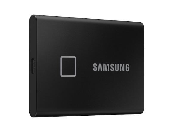 SSD Samsung MU-PC2T0K/WW, Portabil T7 Touch, 2Tb, USB 3.2, 1050Mb/s, protectie cu amprenta 1