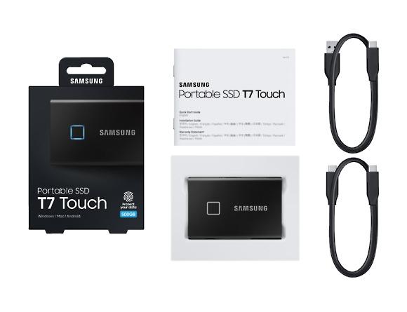 SSD Samsung MU-PC500K/WW, Portabil T7 Touch, 500Gb, USB 3.2, 1050Mb/s, protectie cu amprenta 2