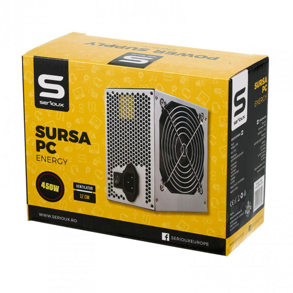 SURSA PC SERIOUX ENERGY 450W VENT 12CM 1