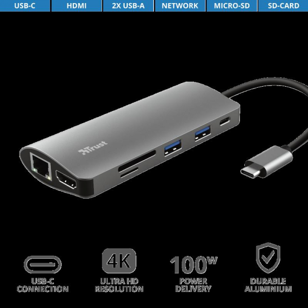 Trust Dalyx 7in1 USB-C Multiport Adapter 3