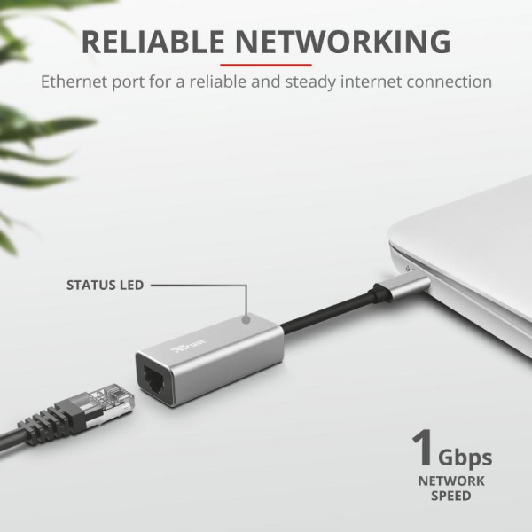 Trust Dalyx USB-C to Ethernet Adapter 4