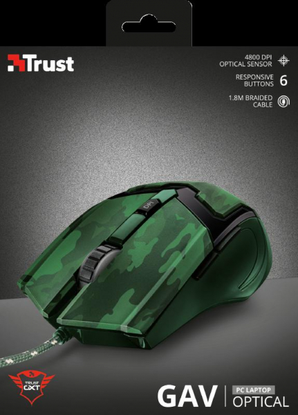 Trust GXT 101D Gav Gaming Mouse - jungle 5