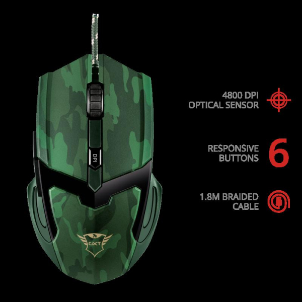 Trust GXT 101D Gav Gaming Mouse - jungle 2