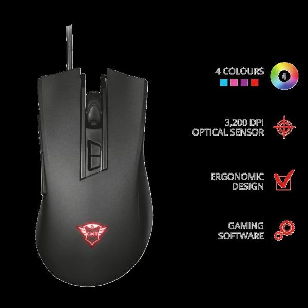 Trust GXT 121 Zeebo Gaming Mouse 1