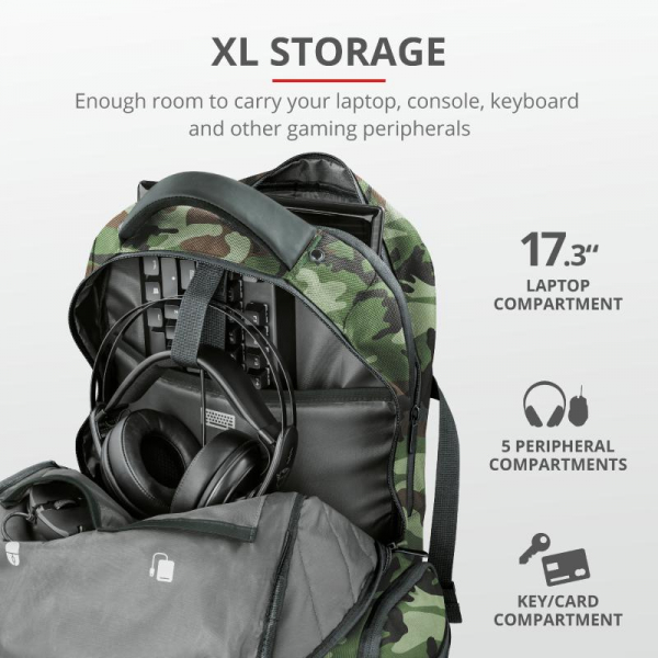 "Trust GXT 1250G Hunter G Backpack 17.3"" 6"