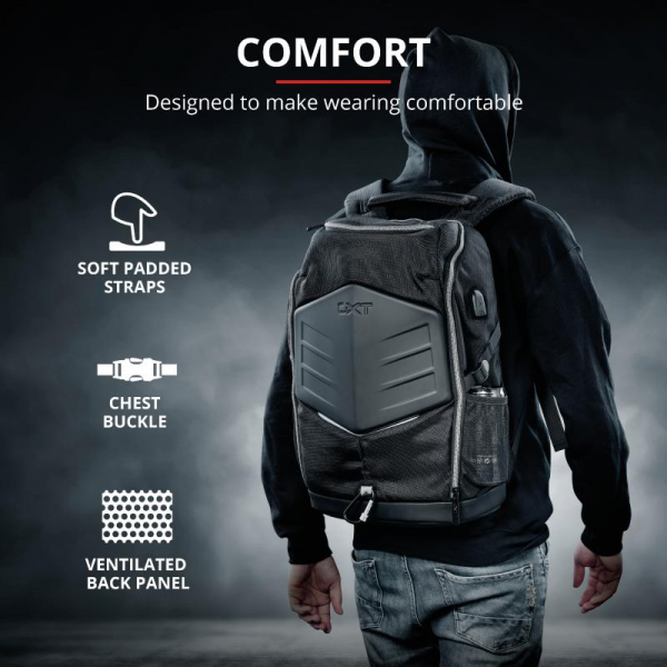 """Trust GXT 1255 Outlaw Backpack Black 15"""" 11"""