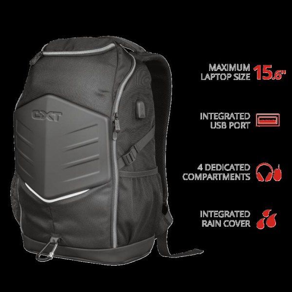 """Trust GXT 1255 Outlaw Backpack Black 15"""" 1"""