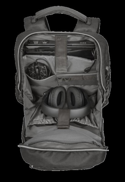"""Trust GXT 1255 Outlaw Backpack Black 15"""" 6"""
