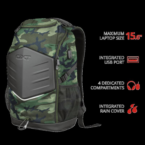 """Trust GXT 1255 Outlaw Backpack Camo 15"""" 0"""