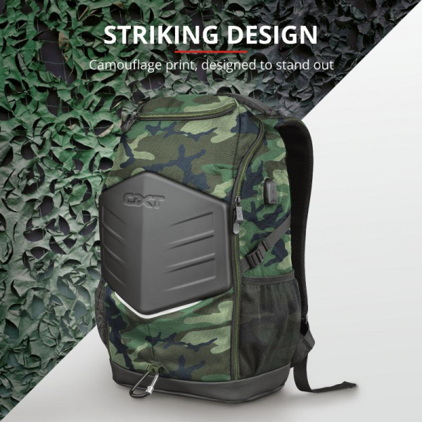 """Trust GXT 1255 Outlaw Backpack Camo 15"""" 6"""