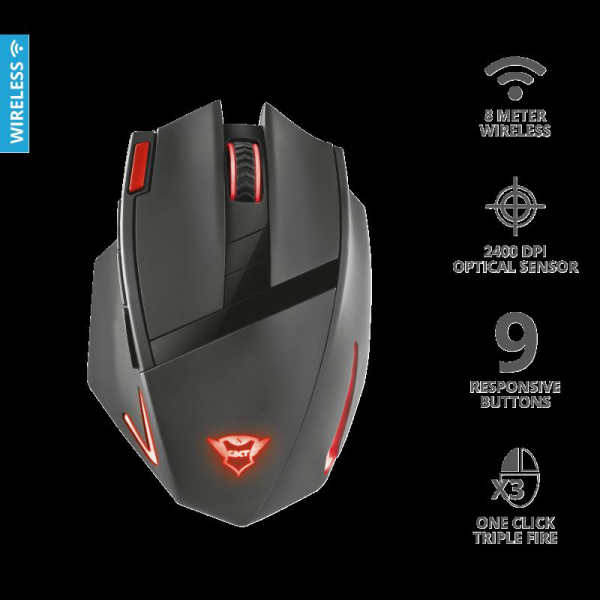 Trust GXT 130 Ranoo Wireless Gaming Mous 2
