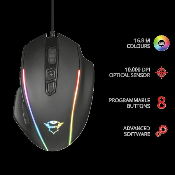 Trust GXT 165 Celox RGB Gaming Mouse 1