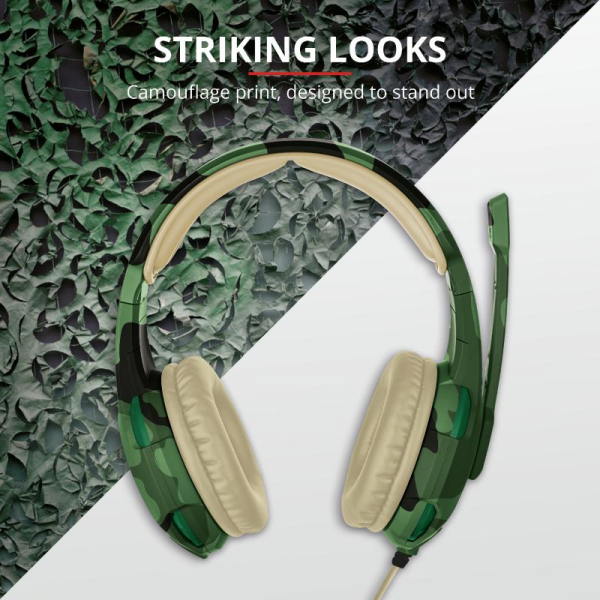 Trust GXT 310C Radius Headset - Jungle 2