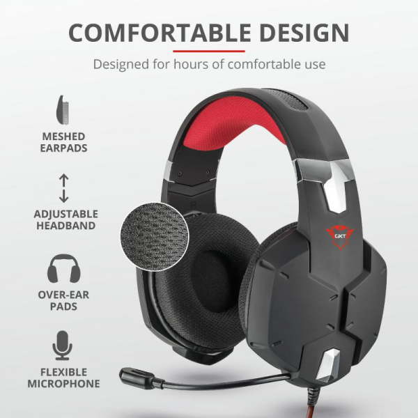 Trust GXT 322 Carus Gaming Headset Black 4