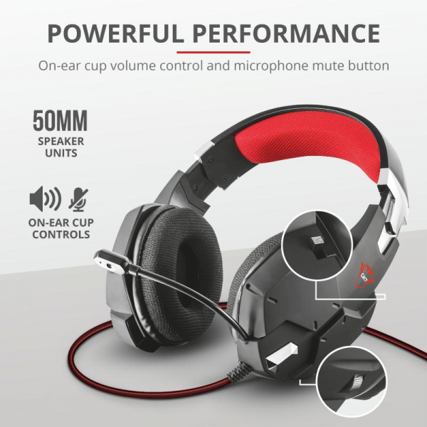 Trust GXT 322 Carus Gaming Headset Black 5