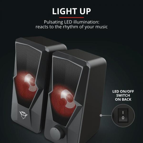 Trust GXT 610 Argus Red LED 2.0 Speaker 7