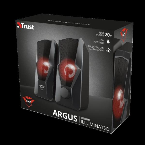 Trust GXT 610 Argus Red LED 2.0 Speaker 9