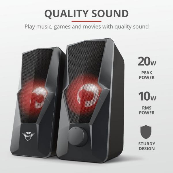 Trust GXT 610 Argus Red LED 2.0 Speaker 3