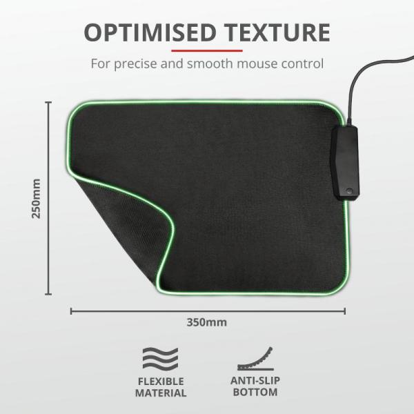 Trust GXT 765 Glide-Flex RGB Mouse Pad 6