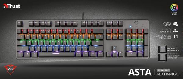 Trust GXT 865 Asta Mechanical Keyboard 6