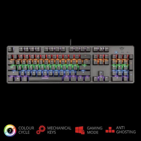 Trust GXT 865 Asta Mechanical Keyboard 1