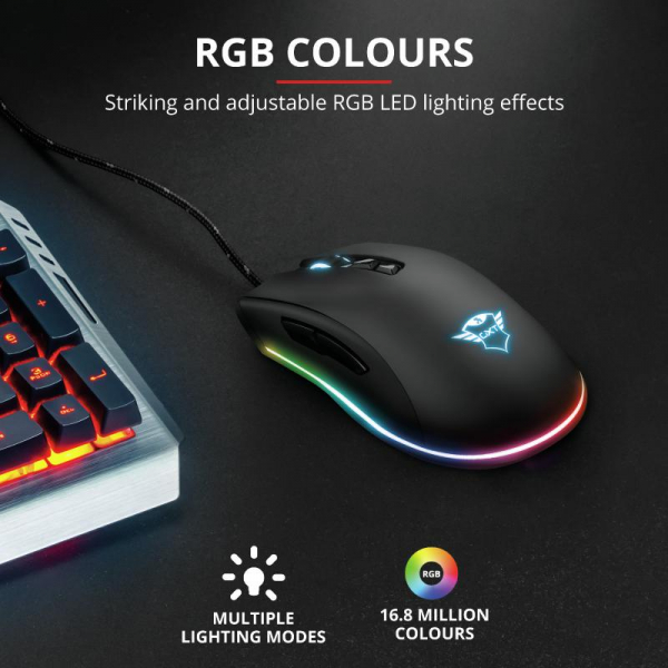 Trust GXT 900 Qudos RGB Gaming Mouse 3
