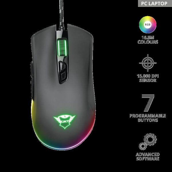 Trust GXT 900 Qudos RGB Gaming Mouse 1