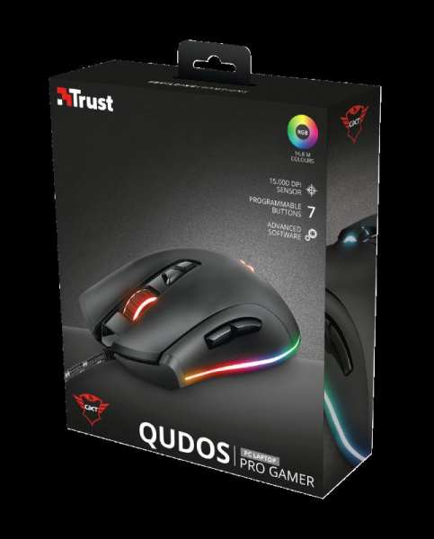 Trust GXT 900 Qudos RGB Gaming Mouse 9
