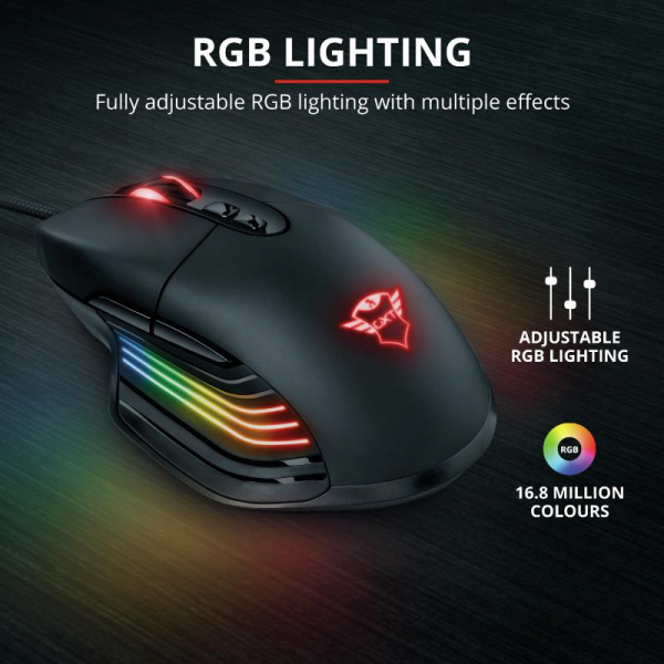 Trust GXT 940 Xidon RGB Gaming Mouse 12