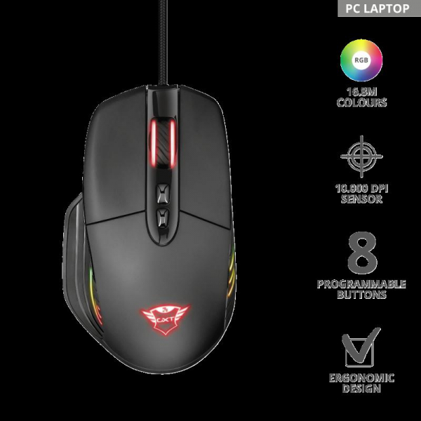 Trust GXT 940 Xidon RGB Gaming Mouse 7