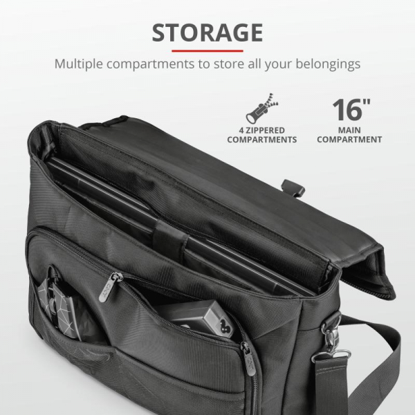"Trust GXT1270 Bullet Messenger Bag 15.6"" 2"