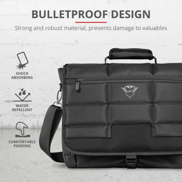 "Trust GXT1270 Bullet Messenger Bag 15.6"" 3"