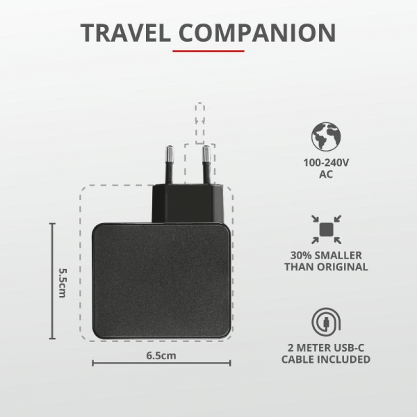 Trust Maxo 61W USB-C Charger for Macbook 6