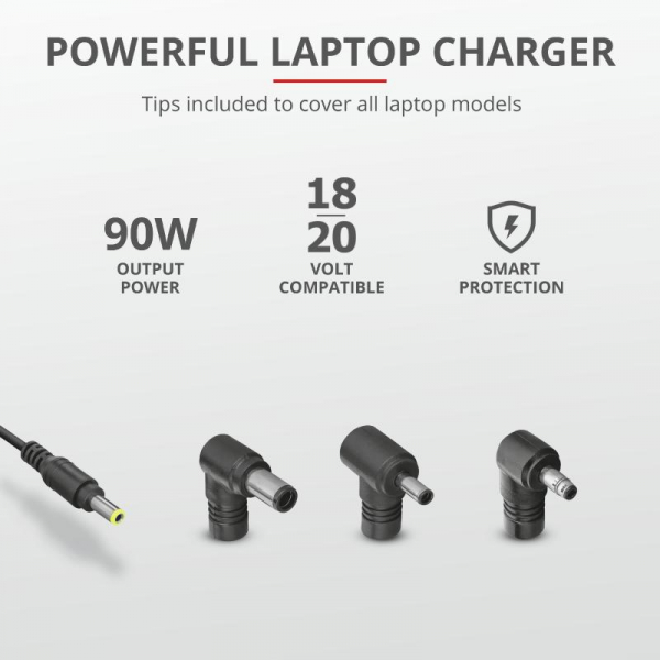 Trust Maxo 90W Laptop Charger for HP 5