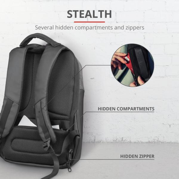 "Trust Nox Anti-theft Backpack 16"" Black [4]"
