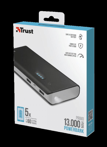 Trust Primo Powerbank 13.000 mAh 3