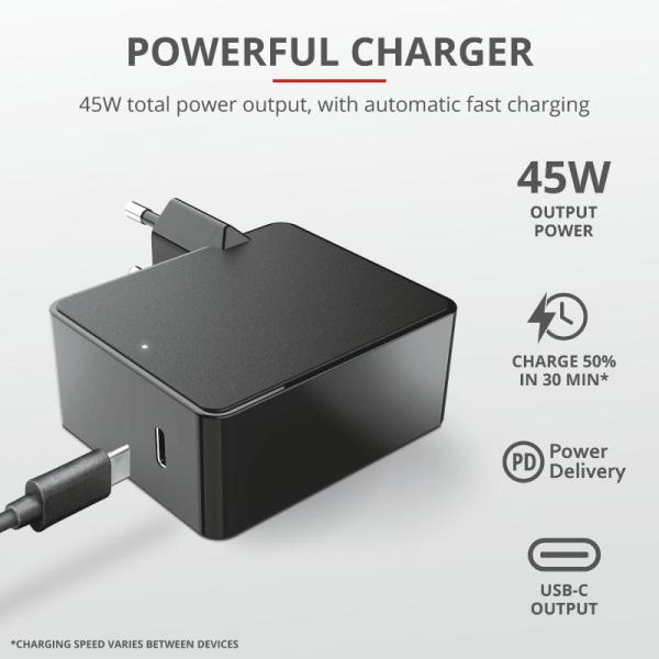 Trust Summa 45W Universal USB-C Charger 4