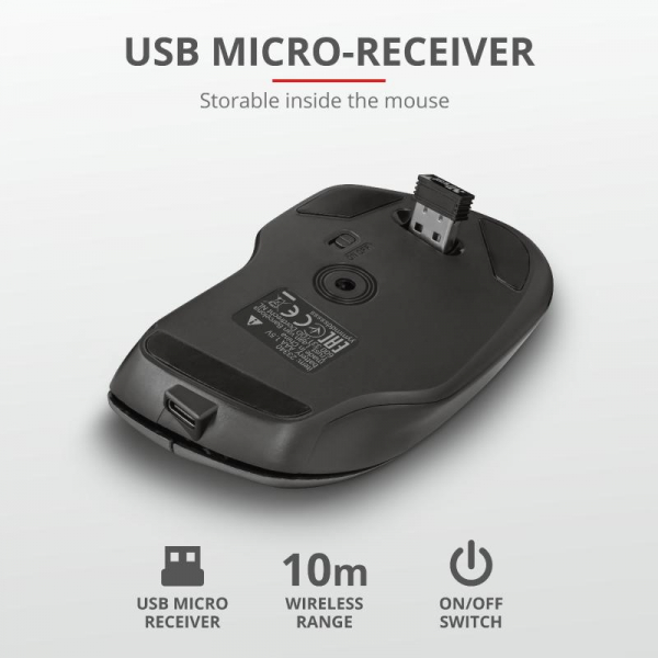 Trust Themo Rechargeable Wireless Mouse 7